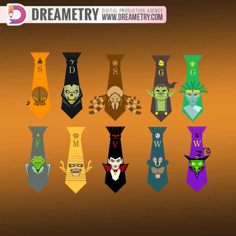 Holloween Ties Design