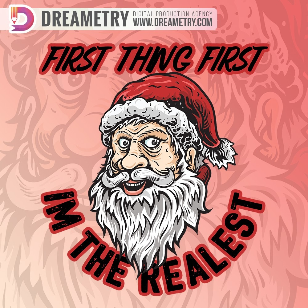 First Thing First - Santa Clause Illustration