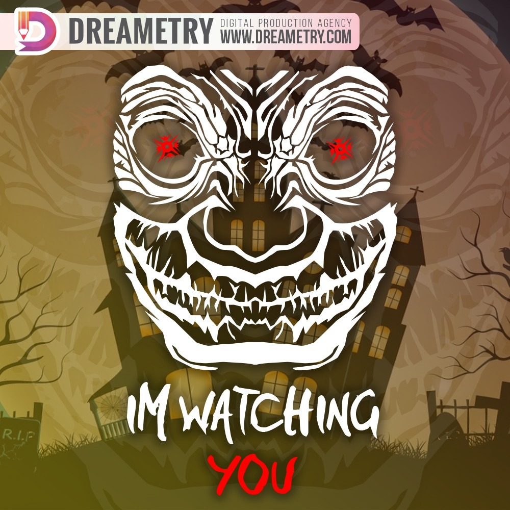 Im watching you - monster illustration