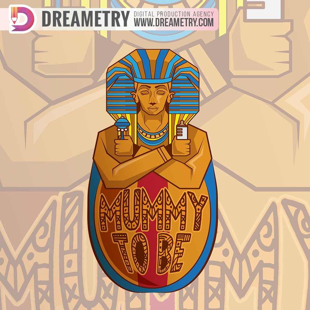 Mummy to be illustration by Dreametry