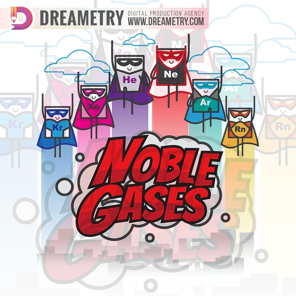 Noble Gases Graphic Design of Dreametry