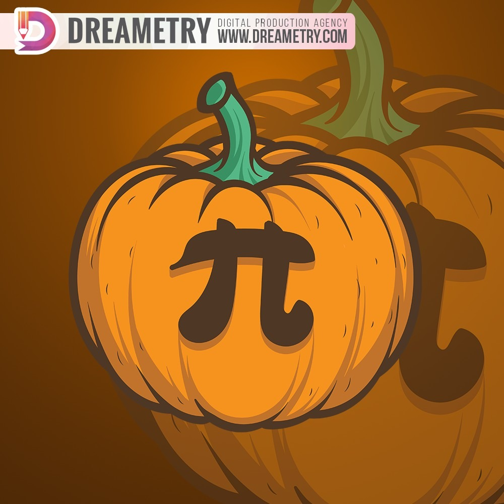 Pumpkin Pi Illustration by Dreametry