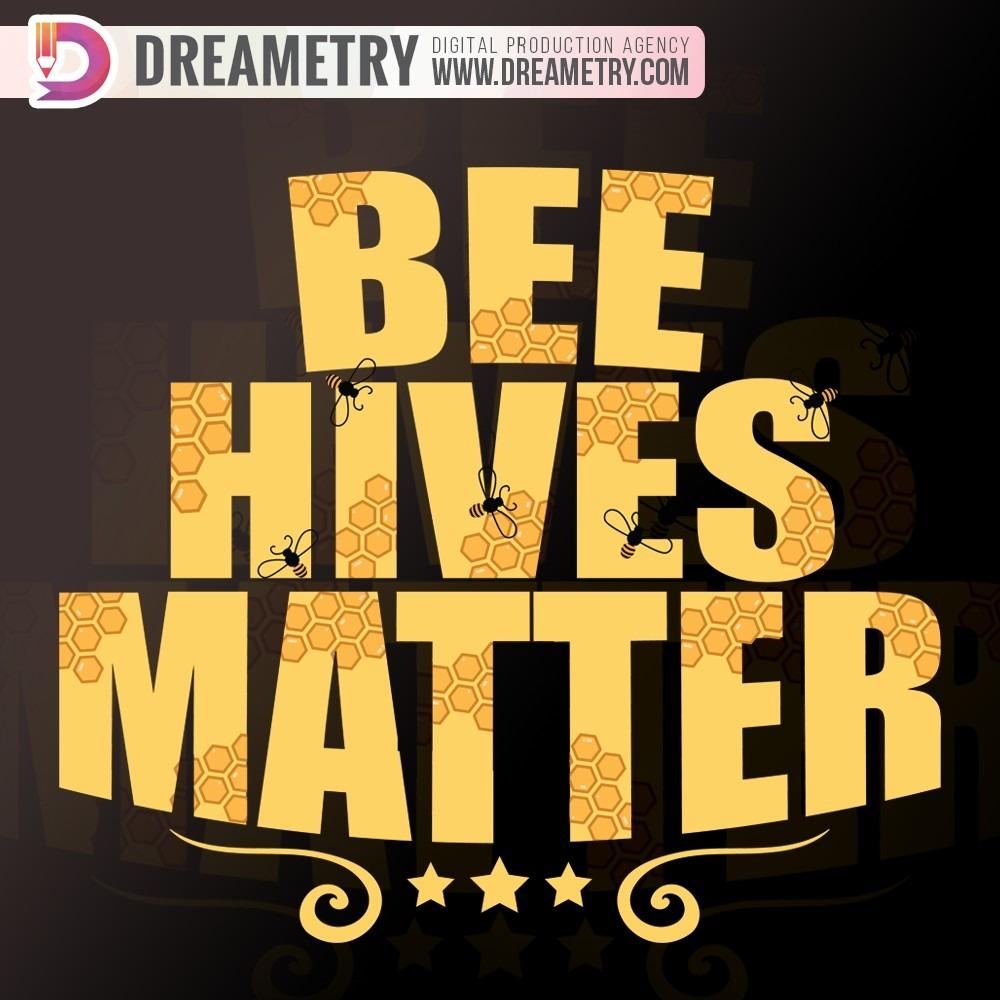 Bee Hives Typography Design