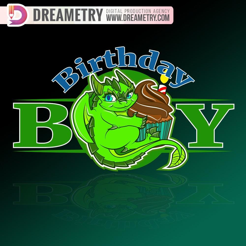 A Little Dragon holding a cupcake