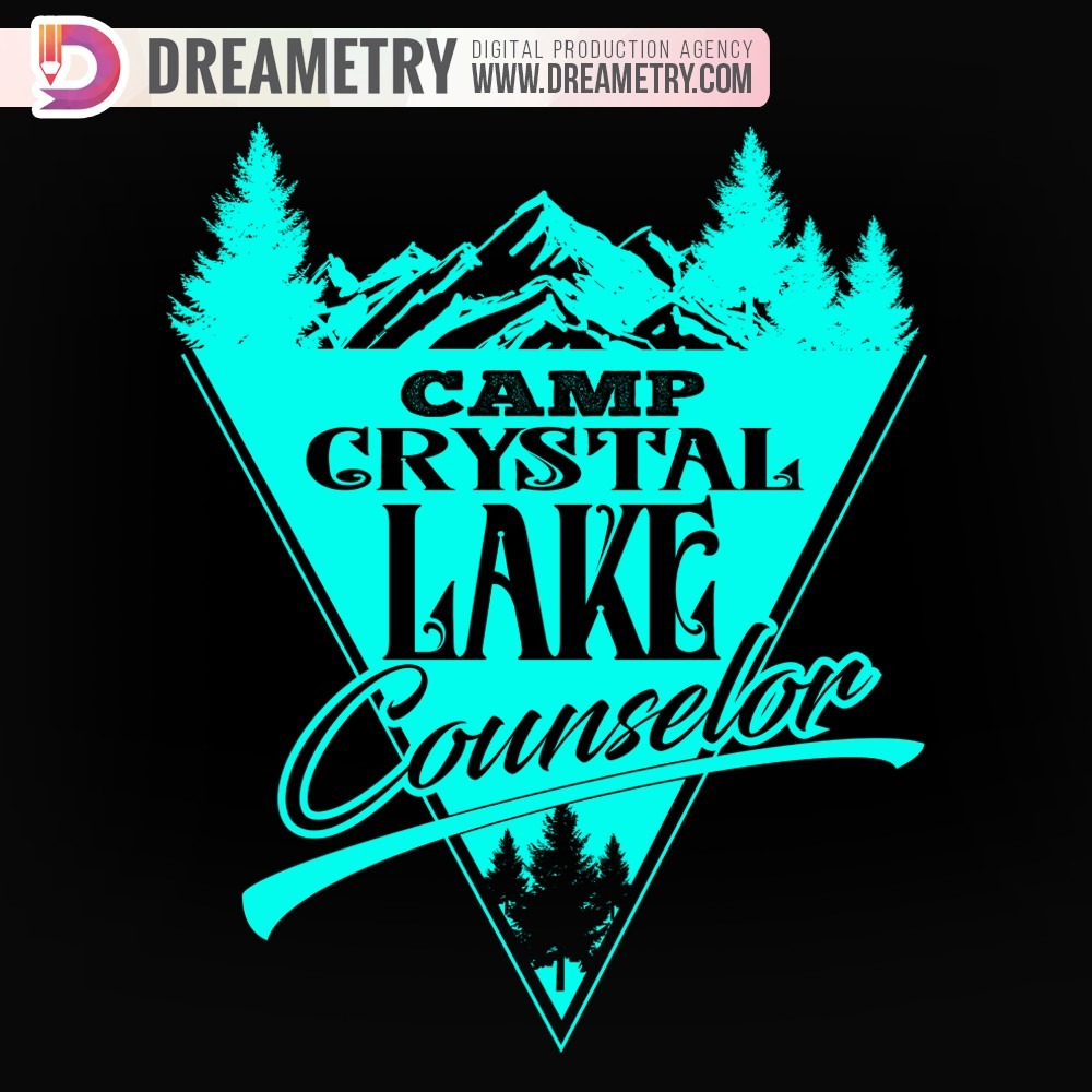 Lake with mountains Illustrations