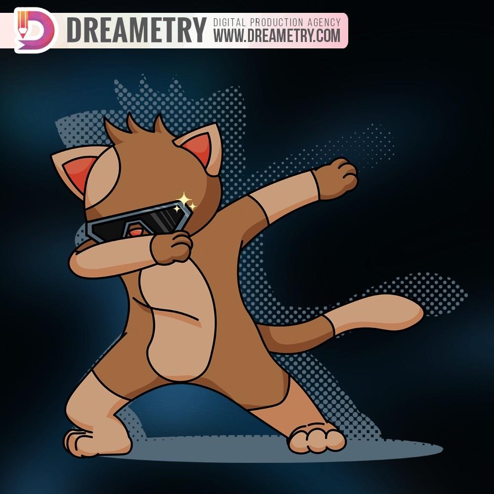 Cat Possing illustration