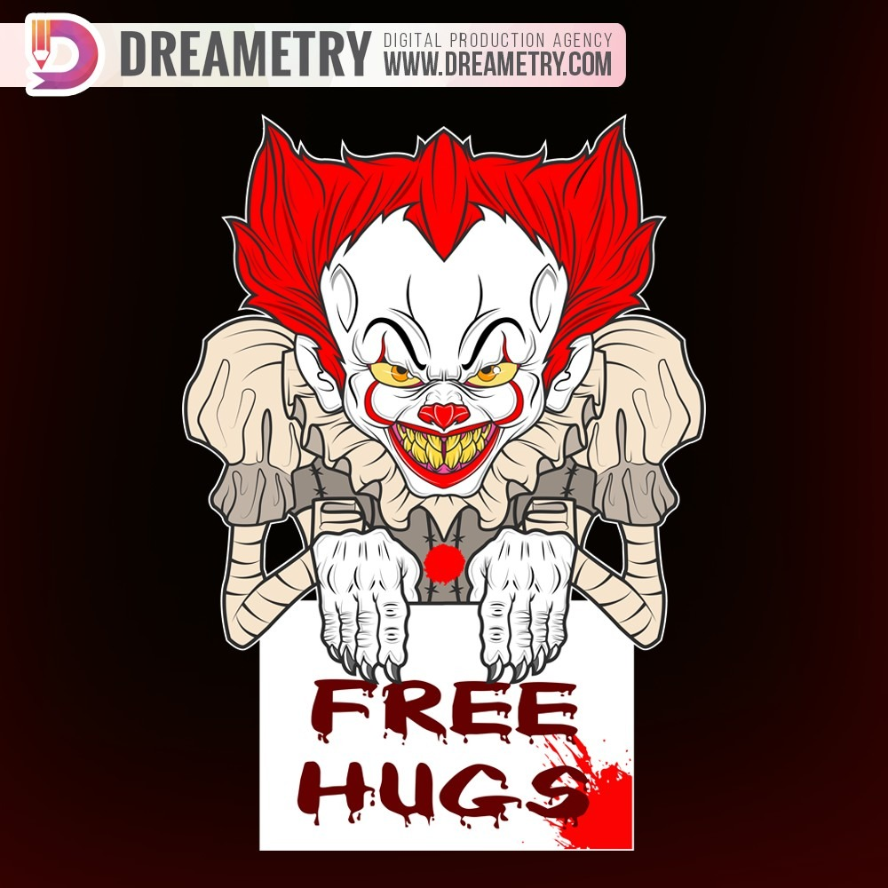 Clown Illustration by Dreametry