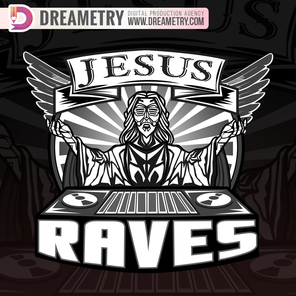Jesus Raves Illustration from Dreametry