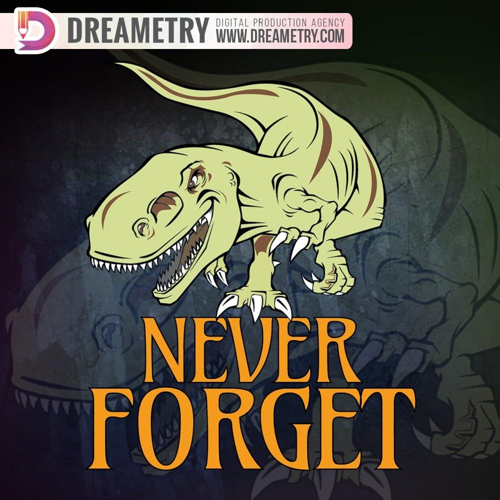 Never Forget Dinosaur Illustration from Dreametry