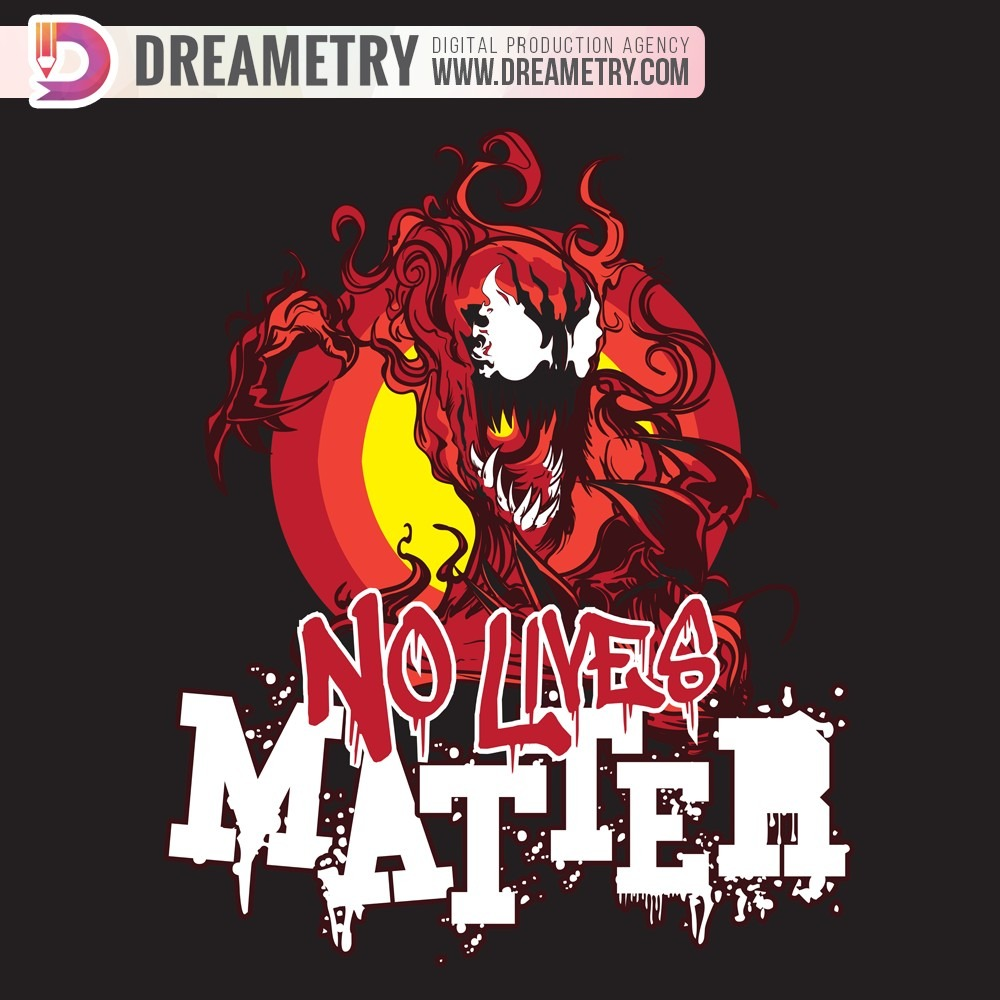 No Lives Matter Illustration of Dreametry