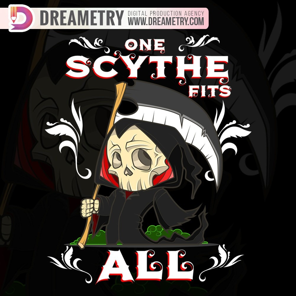 One Scythe - a Dreametry Graphic Design Project